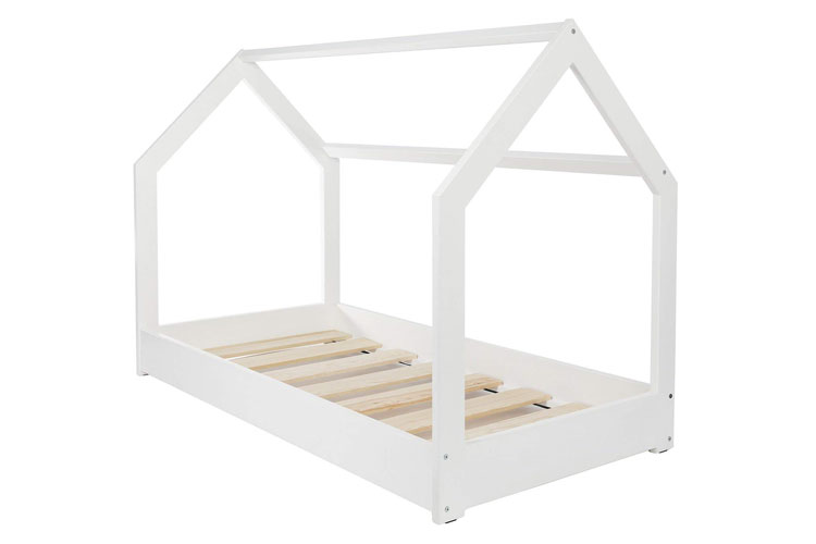 Velinda Lit Maison 2 en 1 Blanc lit-cabane