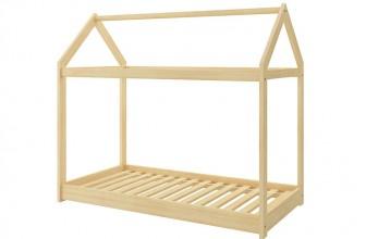 ACMA Pine Naturel 140×70 : le lit cabane pas cher par excellence