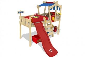 WICKEY CrAzY Hutty avec toboggan : offrez un lit cabane très original à votre enfant